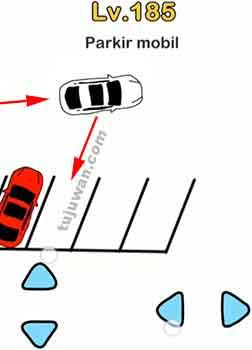 Jawaban di level 185 brain out : Parkir mobil