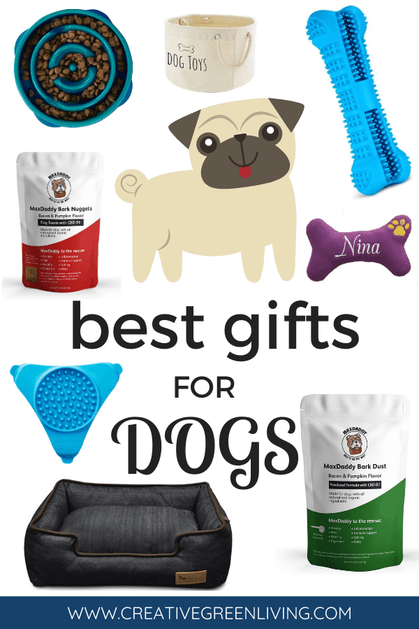 Best gift ideas for dogs! These dog gifts are great for your pets birthday or Christmas. Includes cute custom gift ideas like personalized toys. Some of these unique ideas are super cute and will surprise and delight your favorite pup.