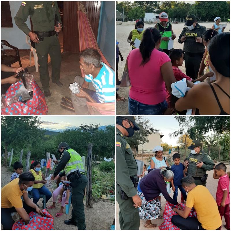 hoyennoticia.com, En La Junta, Policía entregó ayudas humanitarias