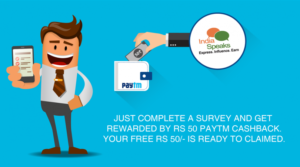 IndiaSpeaks-survey-get-rs-50-free-paytm-cash