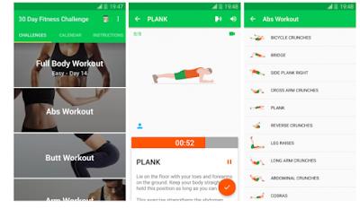 Aplikasi personal trainer gym untuk Android dan Ios