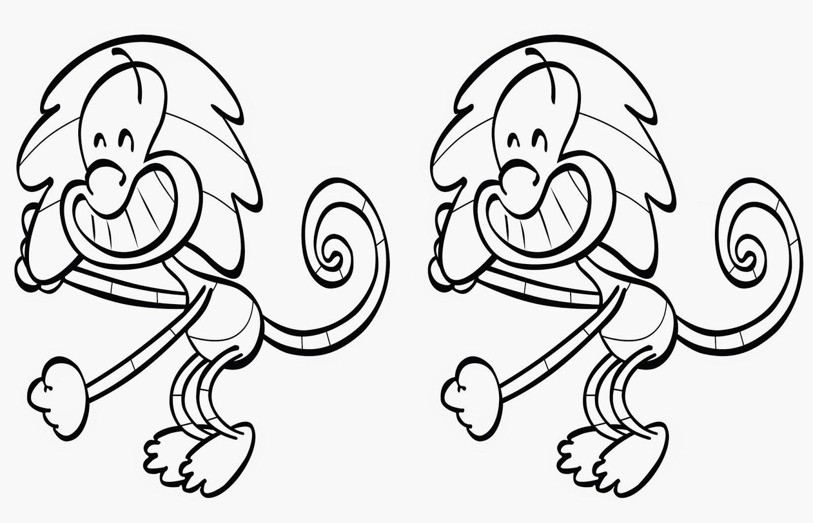 Desenho Para Colorir Macaco Do Jacarelvis Duplo