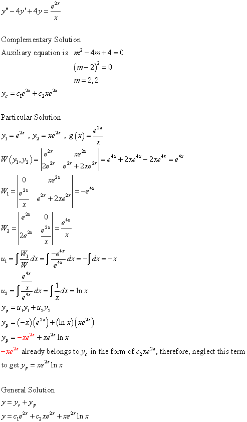 Differential Equations Solved Examples: Find the general