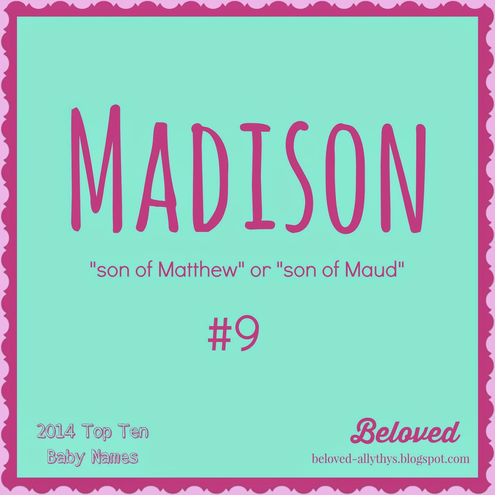 madison name meaning