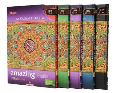 Al Quran Amazing Perjilid Al Karim Wakaf Ibtida Terjemahan Per Kata dari Karya Bestari