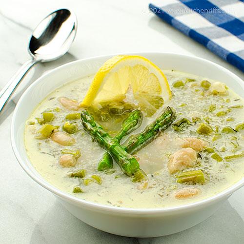 Asparagus and White Bean Soup