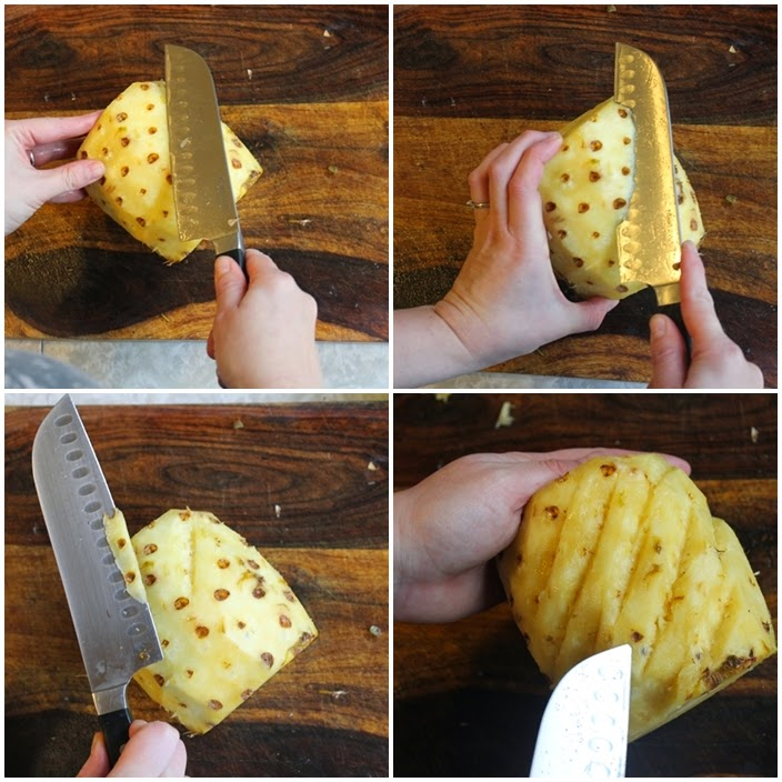 how to spiral cut a pineapple from 1950s Hawaii