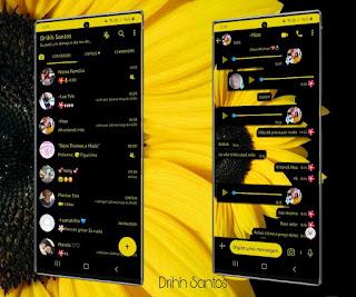 Yellow Flowers Theme For YOWhatsApp & Fouad WhatsApp By Driih Santos