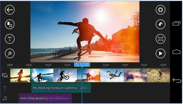 تطبيق إحترافي لتحرير وإنشاء الفيديوهات للأندرويد PowerDirector Video Editor App APK 3.8.0