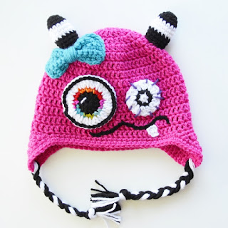 Monster Hat by Over The Apple Tree