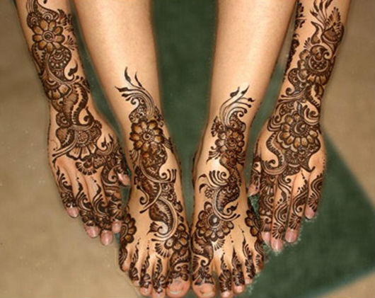 Mehndi Designs For Feet Bridal : Mehndi henna designs for feet tattoos