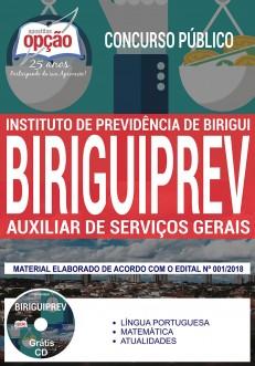 Apostila concurso Birguiprev - Auxiliar de Serviços Gerais