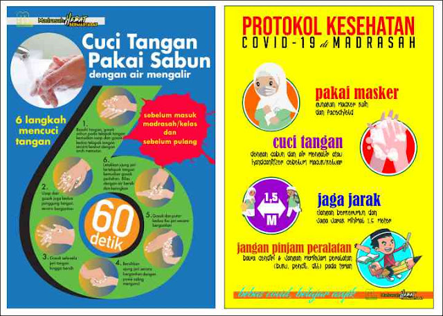 Poster Protokol Kesehatan di Sekolah