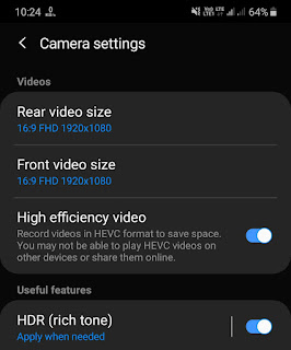 Record HEVC compressed videos on Android
