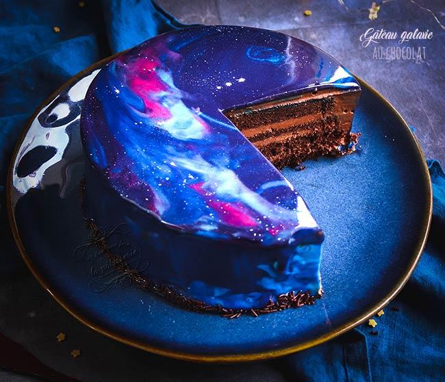 gateau galaxie au chocolat