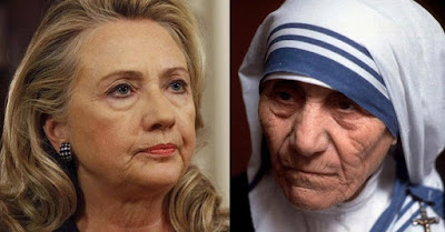 Mother Teresa & Hillary Clinton