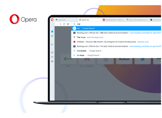 Opera 65 redesigned address bar