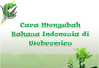 Cara Mengubah Bahasa Indonesia di Webcomics