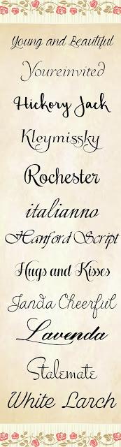 Free 12 script Fonts pack 3