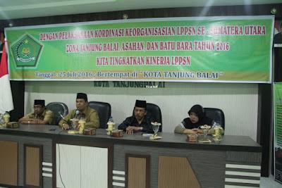Kakan. Kemenag Tanjungbalai Membuka Acara dan Menjadi Narasumber Kordinasi Keorganisasian LPPSN Tahun 2016