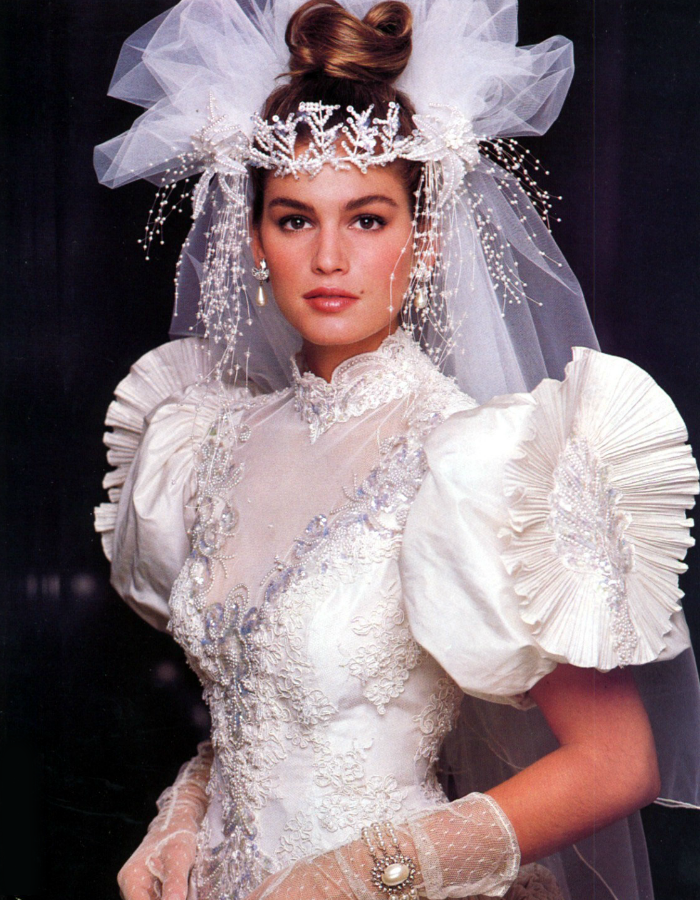 Cindy Crawford Wedding Dress 80s