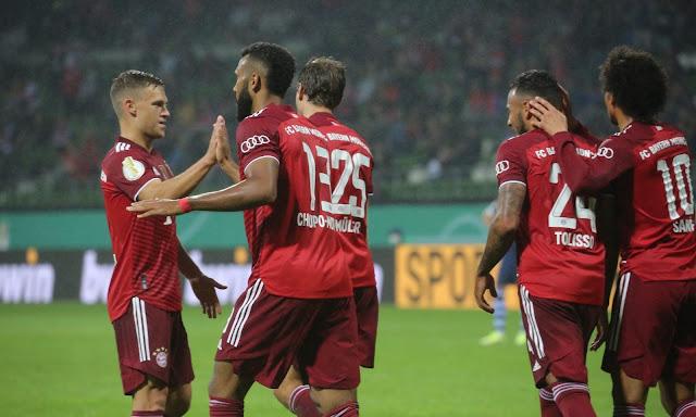 ملخص واهداف مباراة بايرن ميونخ وبريمر (12-0) في كاس المانيا