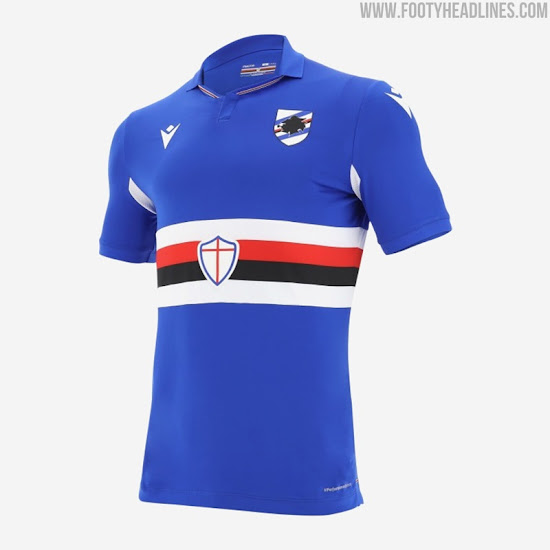 Macron Sampdoria 20 21 Home Away Third Kits Released Footy Headlines