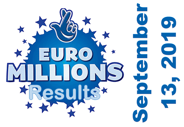 EuroMillions Results for Friday, September 13, 2019