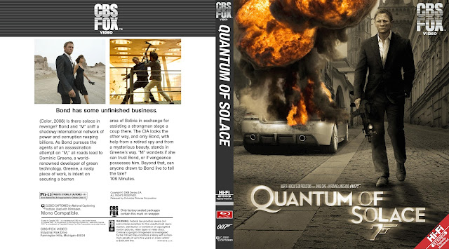 Quantum of Solace Bluray Cover