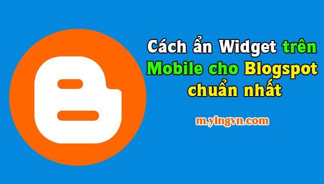 Hướng dẫn ẩn hiện widget tùy chỉnh cho mobile chuẩn nhất
