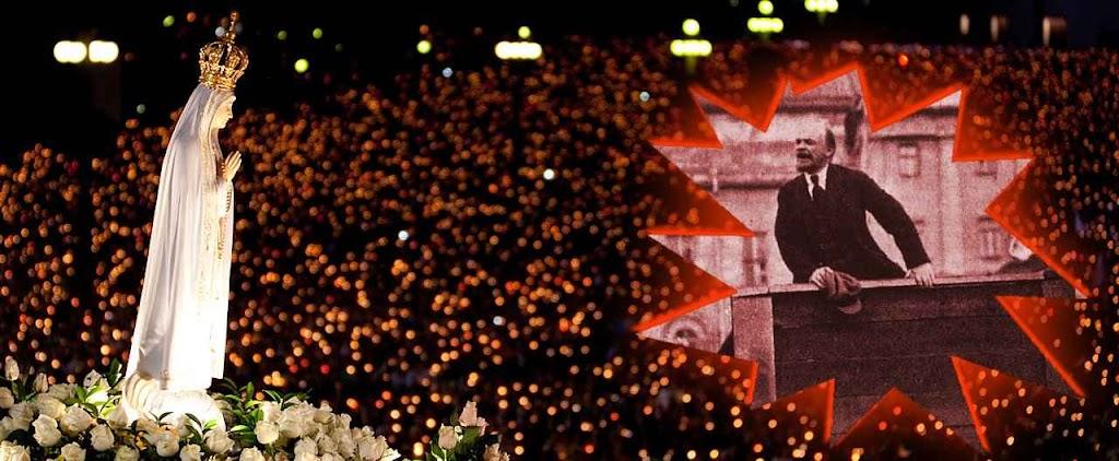 Enquanto os católicos comemoram o centenário da aparição de Fátima, o comunismo rememora a sanguinária revolução anticristã russa