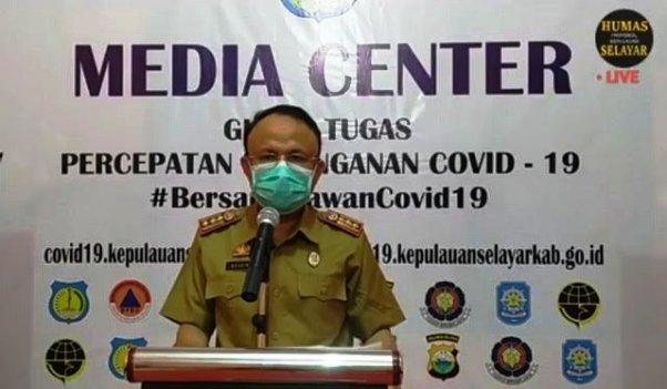 Sebagian Besar Kasus Konfirmasi Positif COVID-19 Selayar Dinyatakan Telah Sembuh