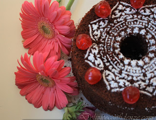 chiffon cake al cacao e maraschino