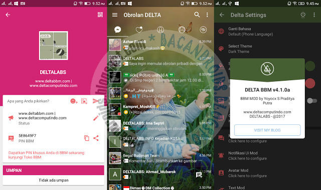 BBM Mod Delta v4.1.0a base v3.2.5.12 Apk update Fix