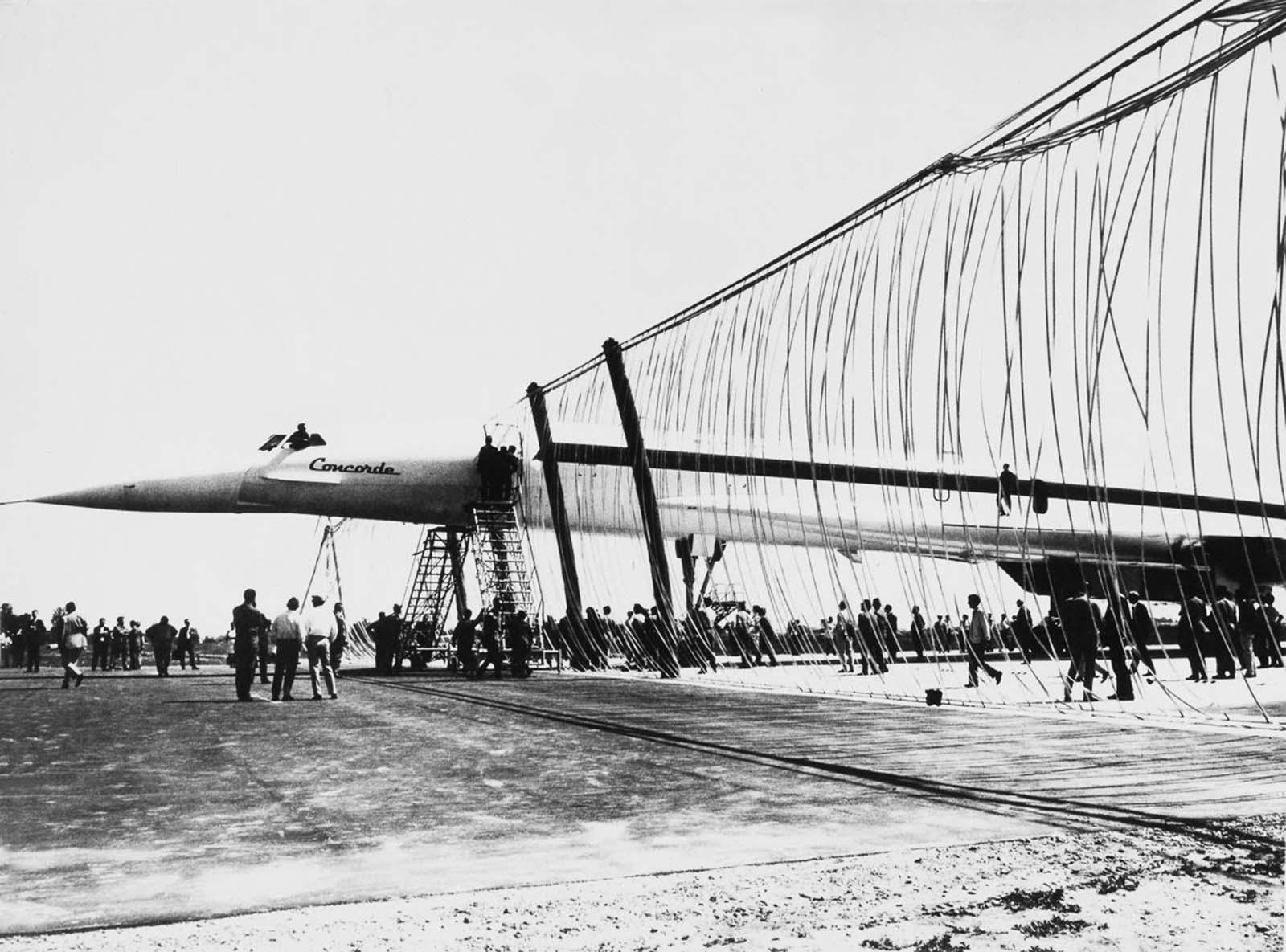 A Concorde prototípusának korai tesztelése.  1968.