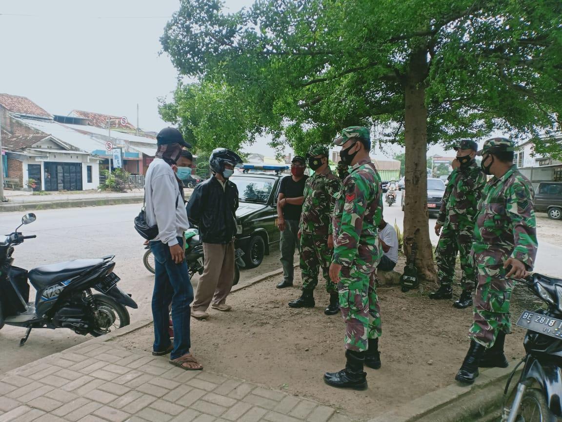 Sejumlah personel Kodim 0410KBL melaksanakan  kegiatan Patroli dalam rangka meningkatkan kemanan dan ketertiban masyarakat diwilayah Kota Bandar Lampung