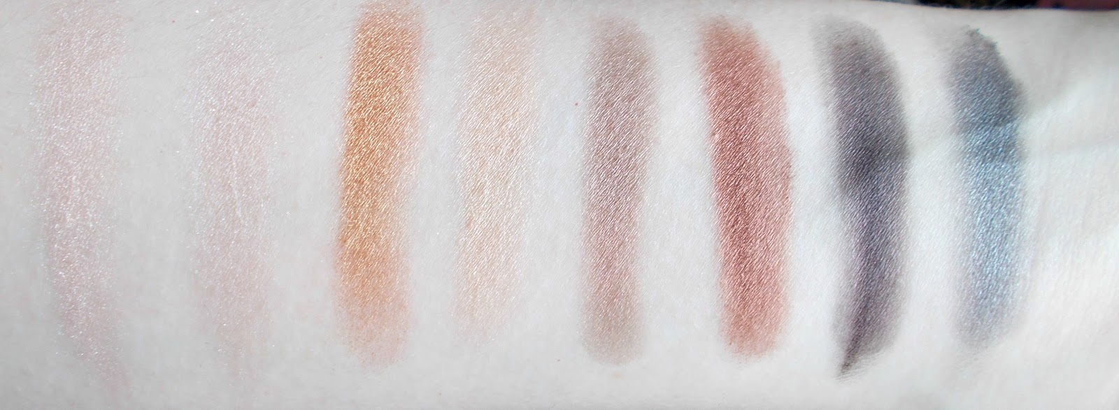 Lorac PRO palette bottom row shimmer swatches