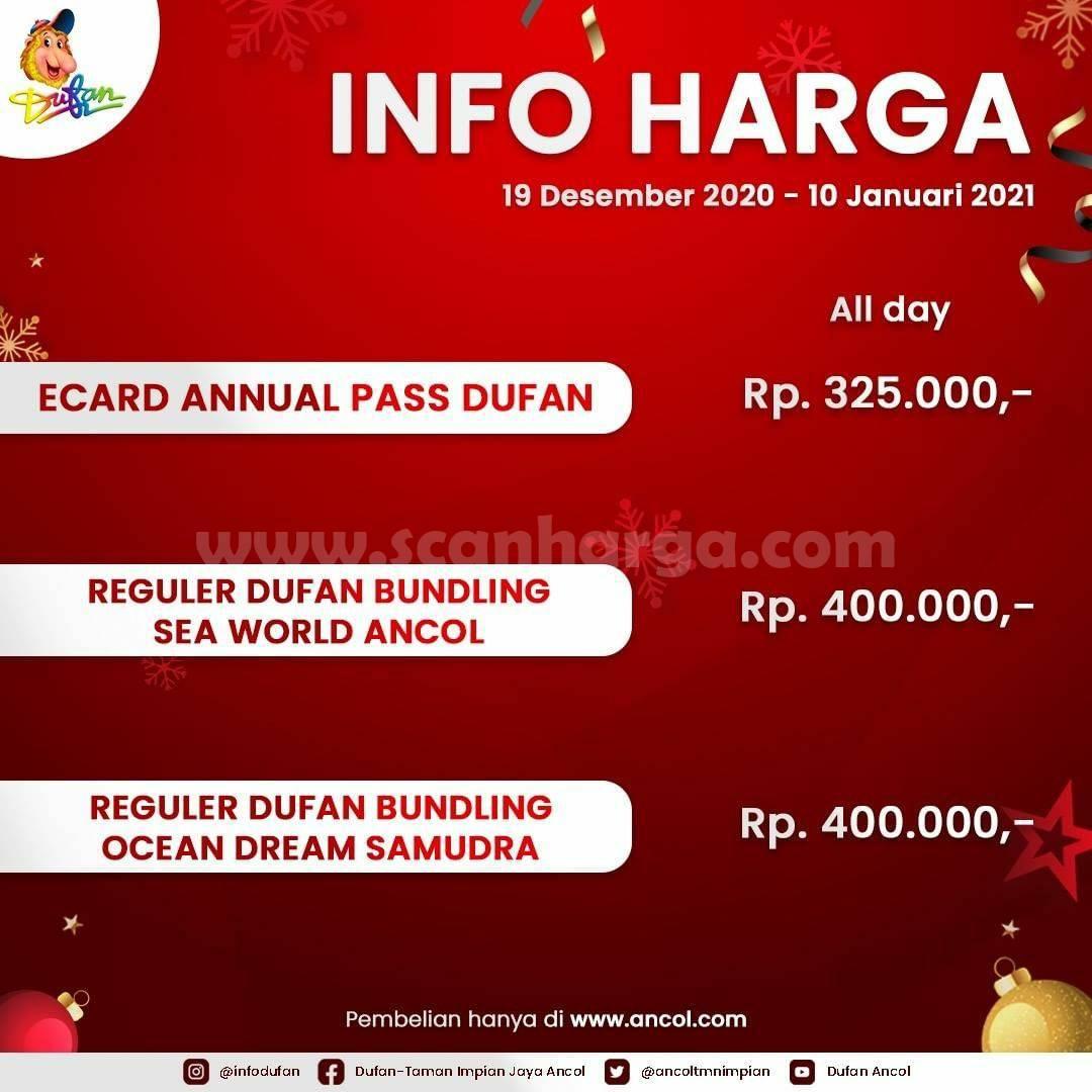 INFO HARGA TIKET DUFAN TERBARU – Periode 19 Desember 2020 - 10 Januari 2021