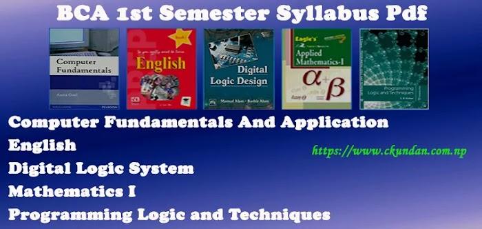 BCA 1st Semester Syllabus Pdf