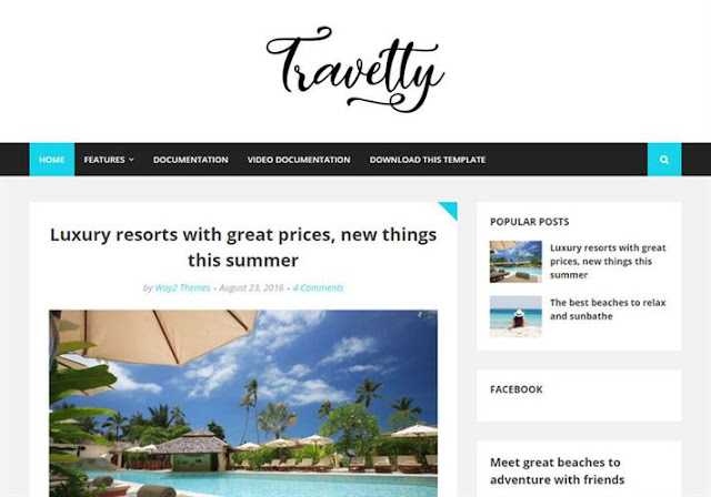 Travelty Blogger Theme
