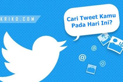 Cara Mengetahui Pada Hari Ini di Twitter