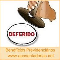 Previdência Social - Concedido, Deferido, Indeferido.