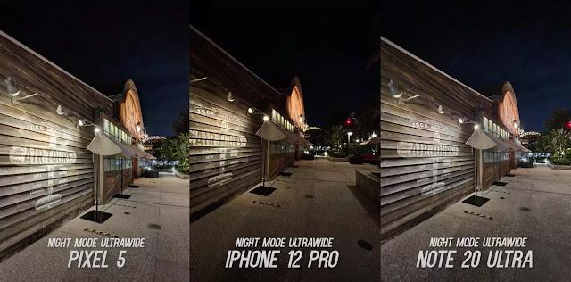 التصوير الليلي لهاتف iPhone 12 Pro مقارنة بهاتفي Pixel 5 و Galaxy Note20 Ultra