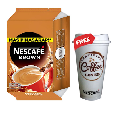 NESCAFE Brown 3-in-1 Coffee 28.5g - Pack of 30 with Free Nescafe Tumbler