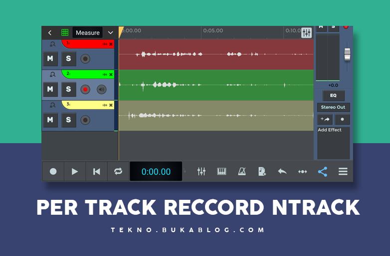 Hasil rekaman per track di ntrack studio
