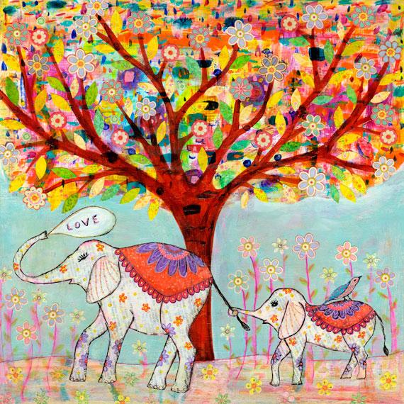 Art by Sascalia: Elephant Love My New Orginal Painting! - photo#47