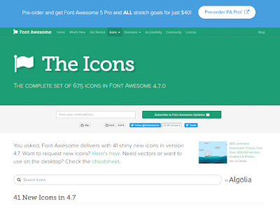 Cara memasang font awesome di blog