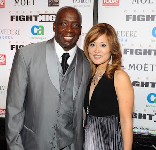 Tomoko Sato with her hubby Billy Blanks