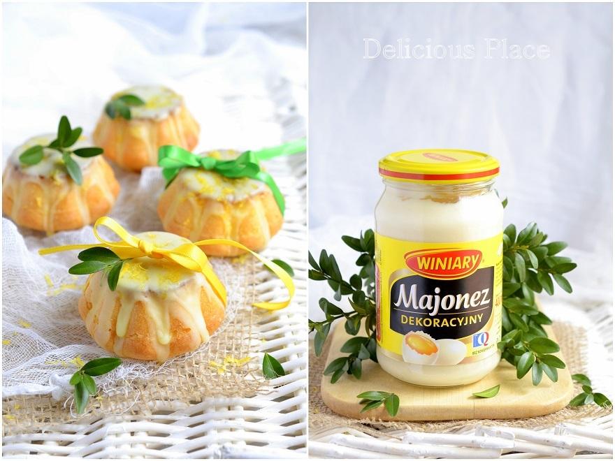 Majonezowe babeczki w cytrynowym lukrze