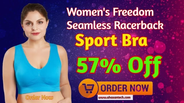 Women's Freedom Seamless Racerback Sport Bra. (57% Off)